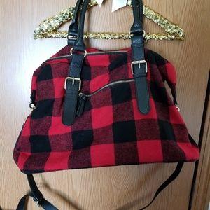 Red Buffalo Plaid Weekender Bag